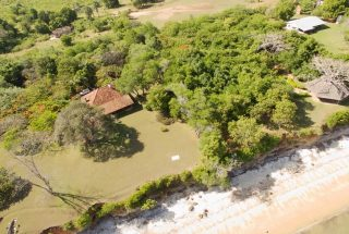 Ariel view of the Five Bedroom House for Sale in Mwambani Bay, Tanga by Tanganyika Estate Agents