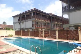 Communal Swimming Pool of the Four Bedroom Furnished Villas in Mikocheni Dar es Salaam by Tanganyika Estate Agents