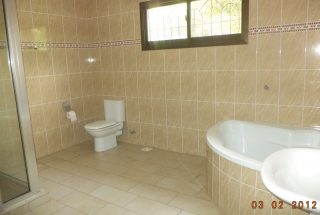 Bathroom of the Four Bedroom House in Oyster Bay Dar es Salaam by Tanganyika Estate Agents