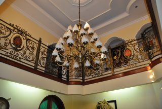 Light Fixtures in front staircaseof Standalone Property for Rent in Oysterbay Tanganyika Estate Agents