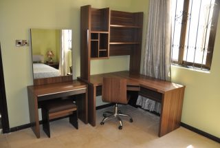 Bedroom Dresser and Study Furnished VIlla in Masaki by Tanganyika Estate Agents