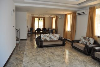 Living Room Furnished Villa on Toure Drive in Masika by Tanganyika Estate Agents