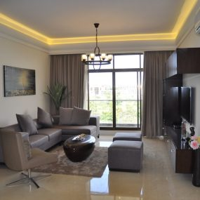 Living Room of the Two Bedroom Furnished Apartments in Masaki by Tanganyika Estate Agents