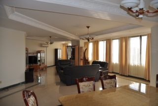 Dining & Living Room of the 3 Bedroom Furnished Condos Dar es Salaam by Tanganyika Estate Agents