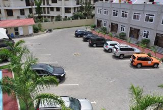 Parking Lot of the 4 Bedroom Furnished Flats in Masaki, Dar es Salaam by Tanganyika Estate Agents