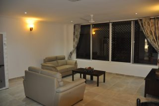 Living Room of the 2 Bedroom Furnished Apartments in Masaki Dar es Salaam by Tanganyika Estate Agents