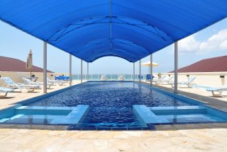 Swimming Pool of the 2 Bedroom Furnished Apartments in Masaki Dar es Salaam by Tanganyika Estate Agents
