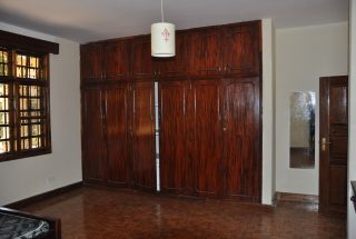 Inbuilt Wardrobes of the Four Bedroom House for Rent in Njiro AGM in Arusha by Tanganyika Estate Agents