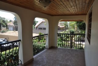 The Balcony of the Four Bedroom House for Rent in Njiro AGM in Arusha by Tanganyika Estate Agents