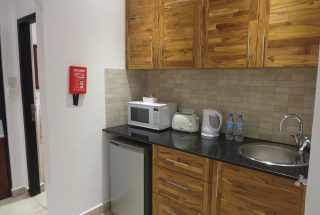 Kitchen of the One bedroom Fully Serviced Apartment in Oysterbay by Tanganyika Estate Agents