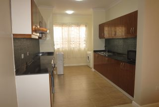A Kitchen in the 2 Bedroom Furnished Apartments in Masaki by Tanganyika Estate Agents