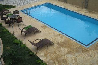Communal Swimming Pool in the 2 Bedroom Furnished Apartments in Masaki by Tanganyika Estate Agents