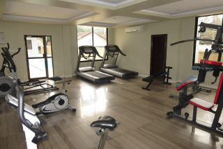 Communal Gym in the 2 Bedroom Furnished Apartments in Masaki by Tanganyika Estate Agents
