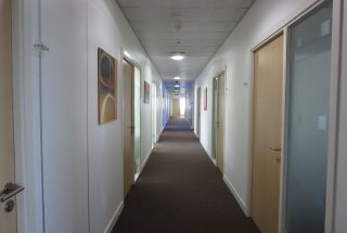 Corridor in the Fully Serviced Offices in Dar Es Salaam CBD by Tanganyika Estate Agents