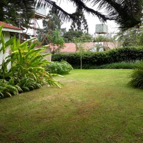 Garden & Tank of the Three Bedroom House Rental on Themi Hill, Arusha by Tanganyika Estate Agents