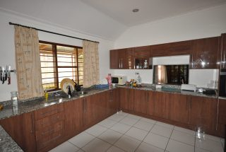 The Kitchen of the Four Bedroom Furnished House in Olorien by Tanganyika Estate Agents