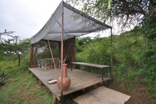 Outside Veranda of the 1 Bedroom Cottage for Sale in Mateves, Arusha by Tanganyika Estate Agents