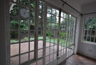 Doors to the Porch of the Four Bedroom House for Rent in Usa River, Arusha by Tanganyika Estate Agents