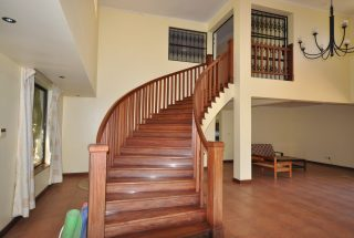 Staircase on the Five Bedroom Furnished Home for Rent in Arusha by Tanganyika Estate Agents