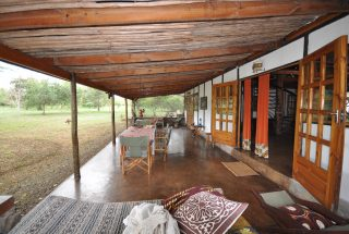 Side View of Veranda of the Two Bedroom House for Sale in Usa River, Arusha by Tanganyika Estate Agents