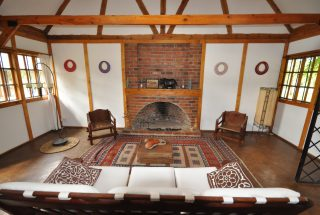 Fireplace in Living Room Two Bedroom House for Sale in Usa River, Arusha by Tanganyika Estate Agents