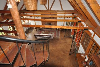 View from the top of the Staircase of the Two Bedroom House for Sale in Usa River, Arusha by Tanganyika Estate Agents