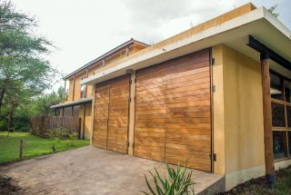 Garage Doors of the Three Bedroom House on Kilimanjaro Golf and Wildlife Estate by Tanganyika Estate Agents