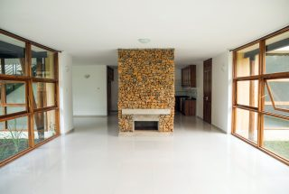 Living room with Chimney of the Three Bedroom House on Kilimanjaro Golf and Wildlife Estate by Tanganyika Estate Agents
