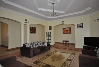 Living Room of the Four Bedroom House for Rent in Arusha by Tanganyika Estate Agents