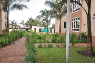 The Garden of the Furnished Three Bedroom Apartment in Njiro, Arusha by Tanganyika Estate Agents