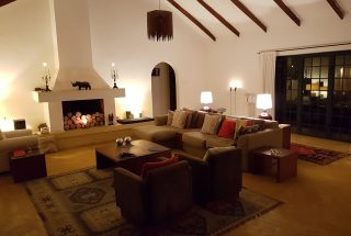 Living Room at Night of the Four Bedroom House for Sale in Kili Golf, Arusha by Tanganyika Estate Agents