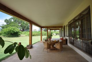 A Veranda of the Three Bedroom Home for Sale in Arusha by Tanganyika Estate Agents