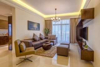 Living Room of the Two Bedroom Apartment for Sale on Coral Lane, Masaki, Dar es Salaam