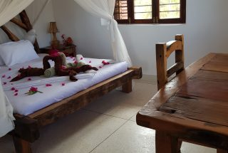 A Bedroom on the Two Villa Hotel for Sale in Jambiani, Zanzibar by Tanganyika Estate Agents