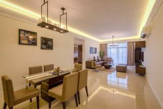 Dining Room of the Two Bedroom Apartment for Sale on Coral Lane, Masaki, Dar es Salaam
