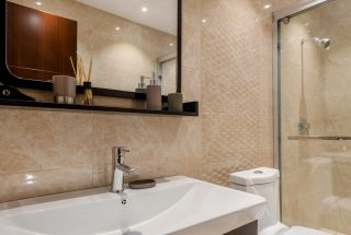 A Bathroom of the Two Bedroom Apartment for Sale on Coral Lane, Masaki, Dar es Salaam