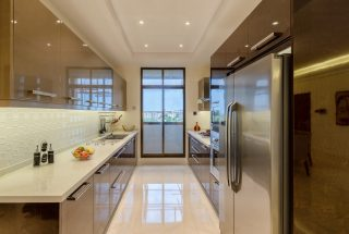 The Kitchen of the Two Bedroom Apartment for Sale on Coral Lane, Masaki, Dar es Salaam