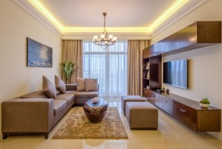 Sitting Room of the Two Bedroom Apartment for Sale on Coral Lane, Masaki, Dar es Salaam