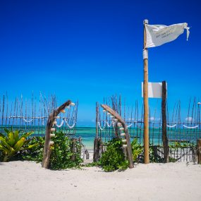 Beach Front View of the Two Villa Hotel for Sale in Jambiani, Zanzibar by Tanganyika Estate Agents