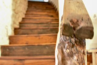 A staircase on the Two Villa Hotel for Sale in Jambiani, Zanzibar by Tanganyika Estate Agents