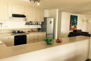 The Kitchen of the Four Bedroom Furnished Ensuite Apartment in Dar