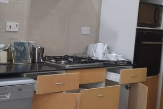 Kitchen of the Four Bedroom Furnished Ensuite Apartment in Dar