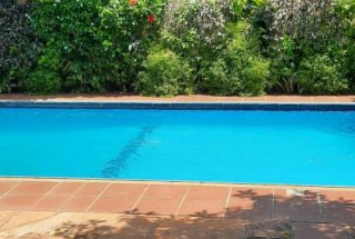 Swimming pool of the Four Bedroom Home in Oyster Bay