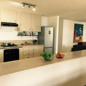 The Kitchen of the Two Bedroom Cottage Rental in Dar es Salaam