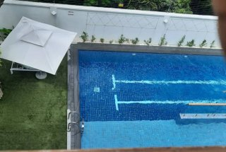 The swimming pool of the Fully Furnished Apartments in Dar es Salaam.